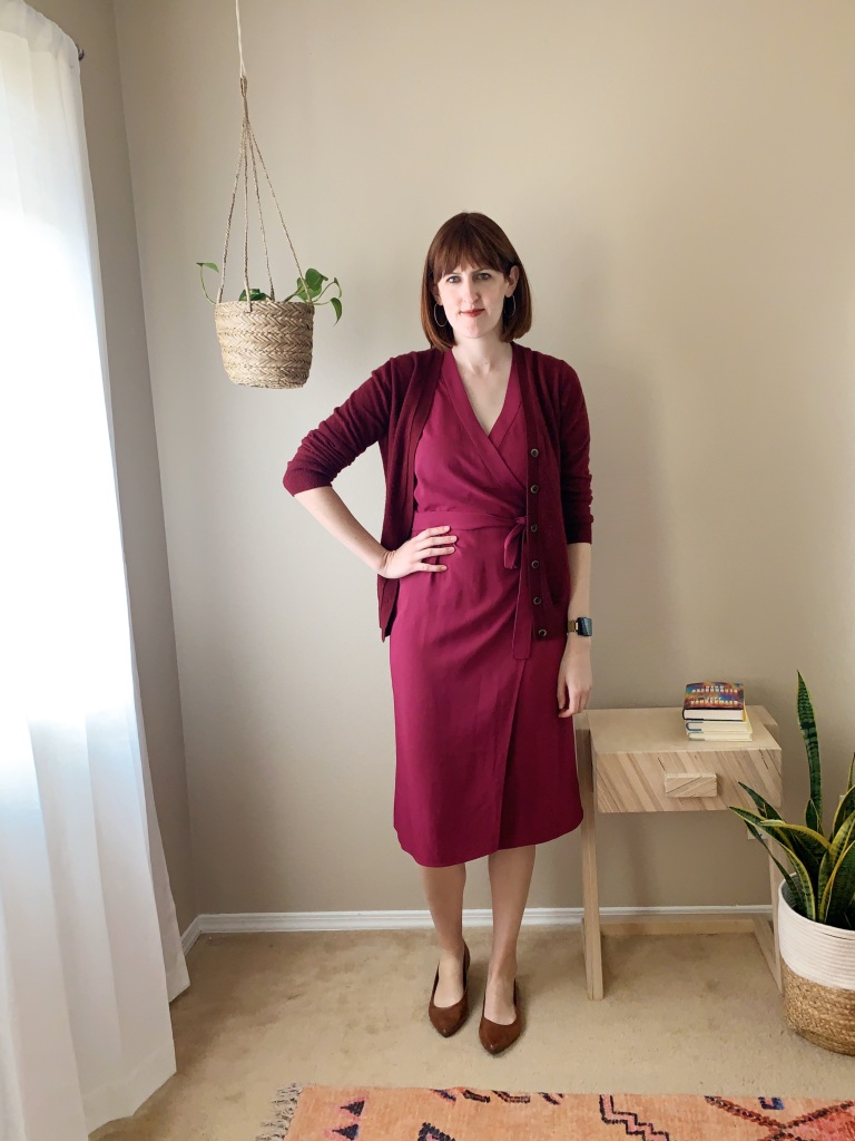 Everlane goweave wrap dress