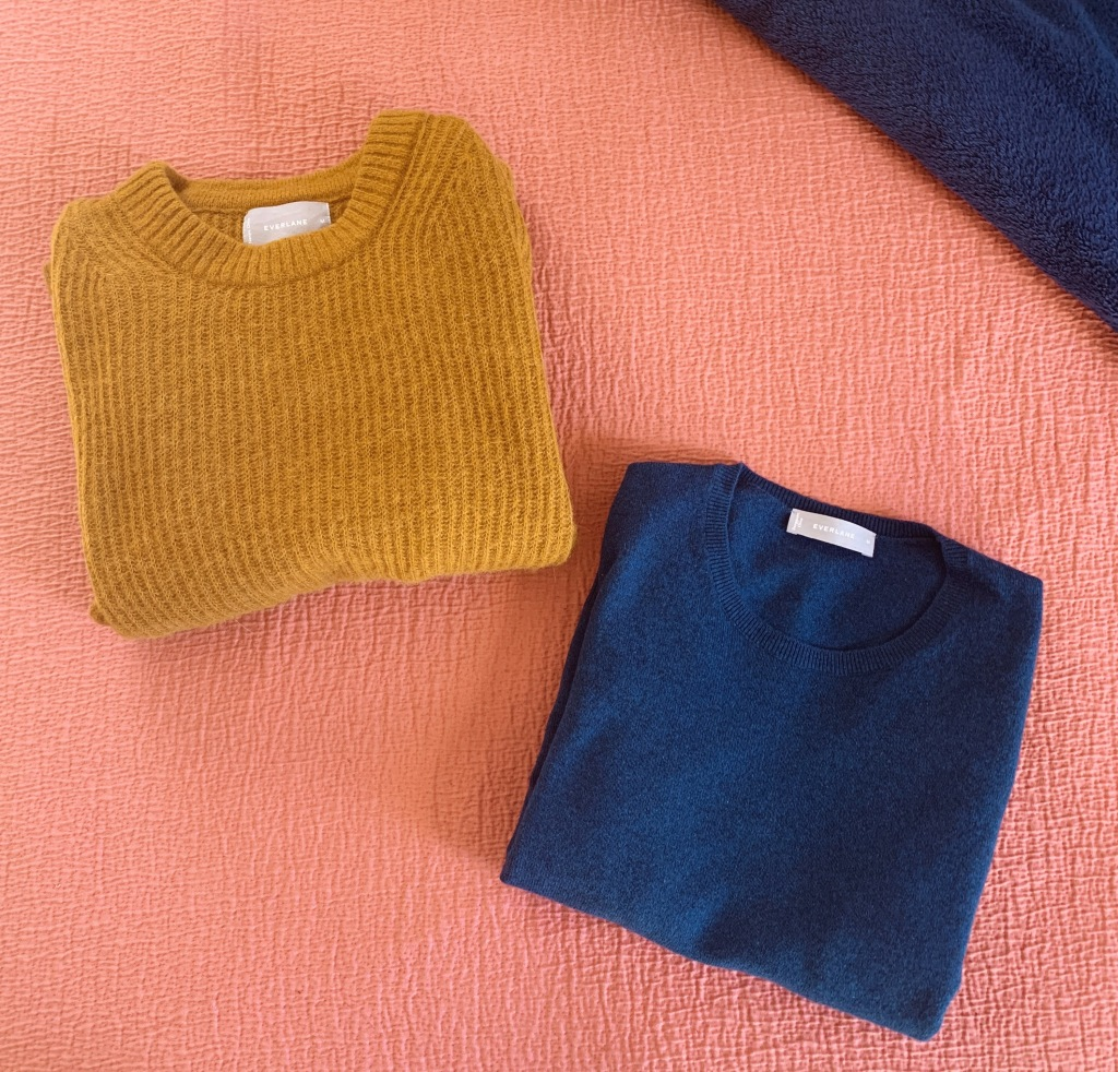 Everlane Oversized Alpaca Crew and Everlane Cashmere Crew Comparison Review