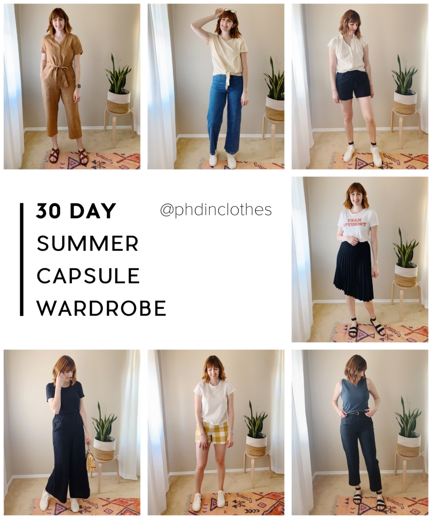 easy summer capsule wardrobe for hot weather