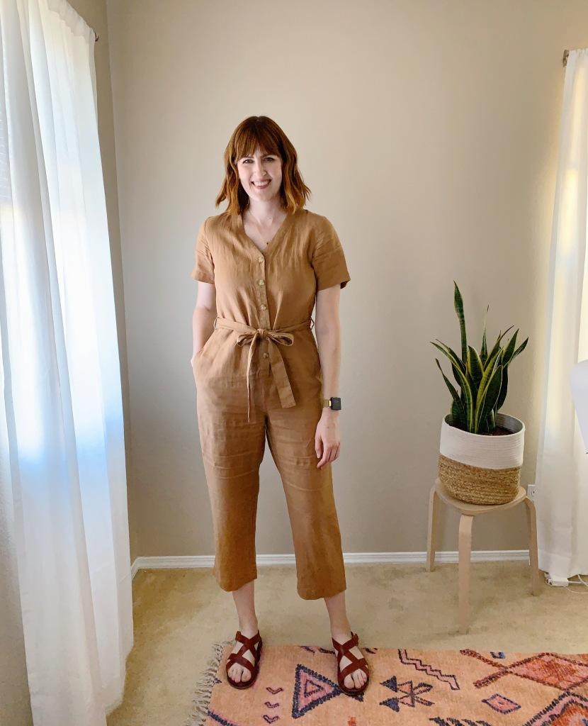 Everlane linen jumpsuit